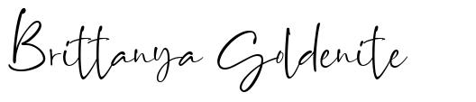 Brittanya Goldenite font