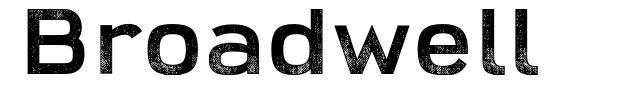 Broadwell font