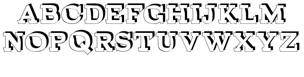 Broken Depth font
