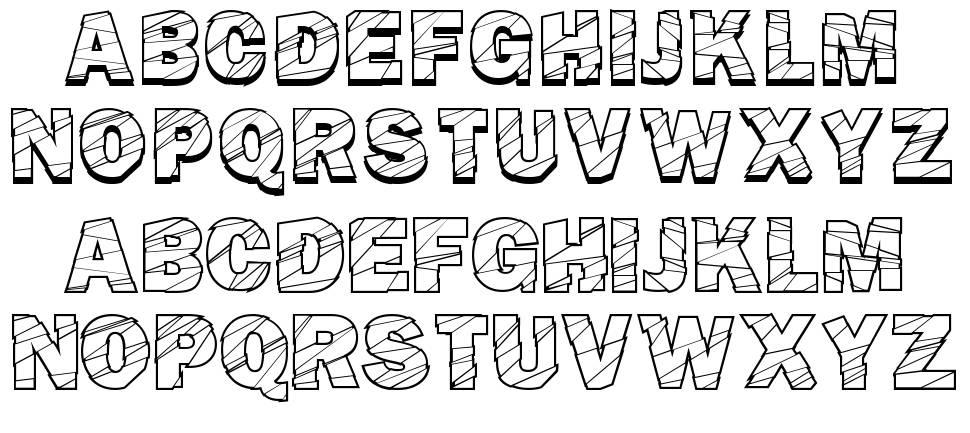 Broken Fluid font