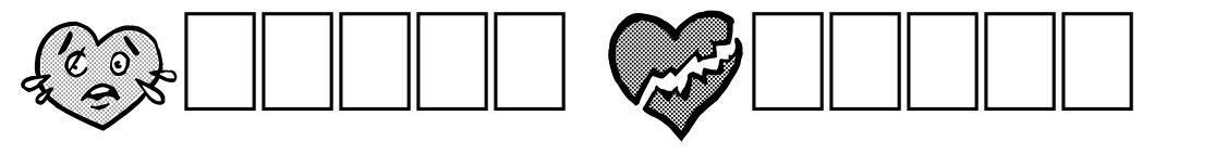 Broken Hearts font
