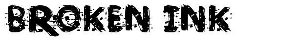Broken Ink  font