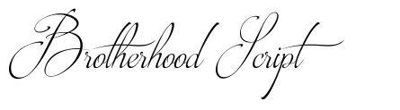 Brotherhood Script 字形