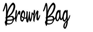 Brown Bag font