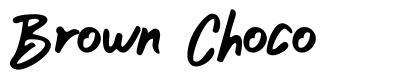 Brown Choco 字形