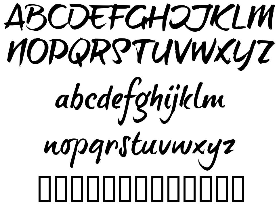 Brush Tip Terrence font
