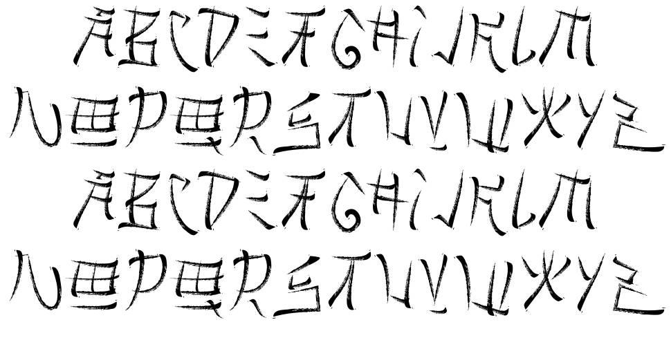 Brushido písmo