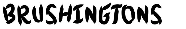 Brushingtons font