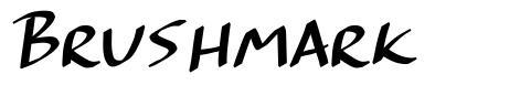 Brushmark font