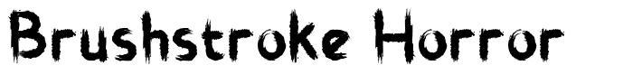 Brushstroke Horror font