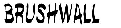Brushwall font