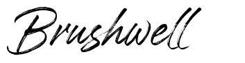 Brushwell fonte