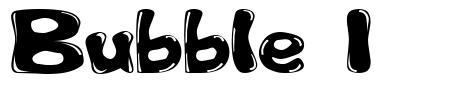 Bubble 1 font