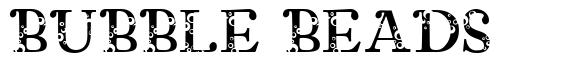 Bubble Beads font