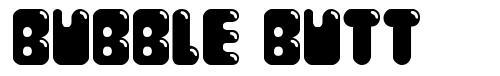 Bubble Butt font