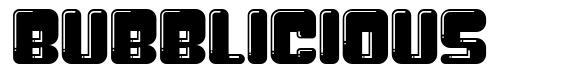 Bubblicious font