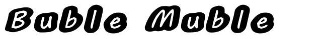 Buble Muble font