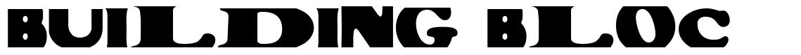 Building Bloc font