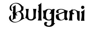 Bulgani písmo