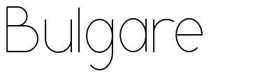 Bulgare font