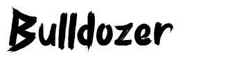 Bulldozer font