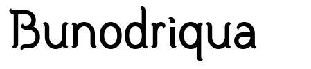 Bunodriqua font