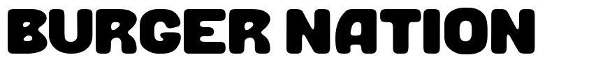 Burger Nation 字形