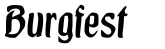 Burgfest font