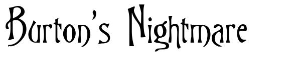 Burton's Nightmare フォント