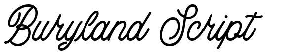 Buryland Script