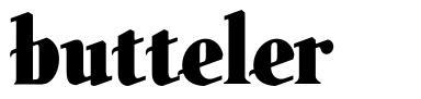 Butteler font