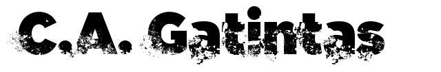 C.A. Gatintas font
