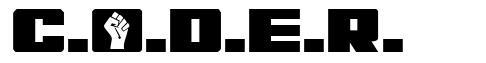 C.O.D.E.R. font