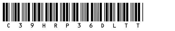 c39hrp36dltt font
