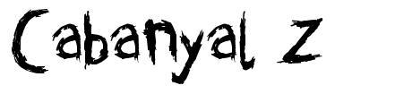 Cabanyal Z font