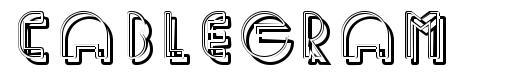 Cablegram font