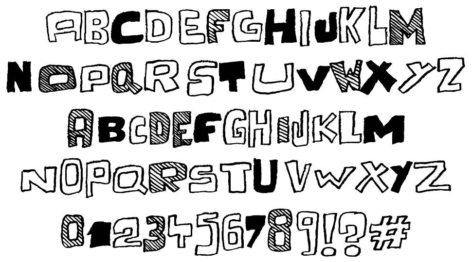 Cache Tampon font