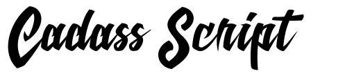 Cadass Script шрифт