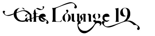 Cafe Lounge 19 font