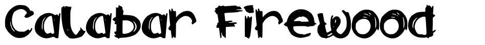 Calabar Firewood font