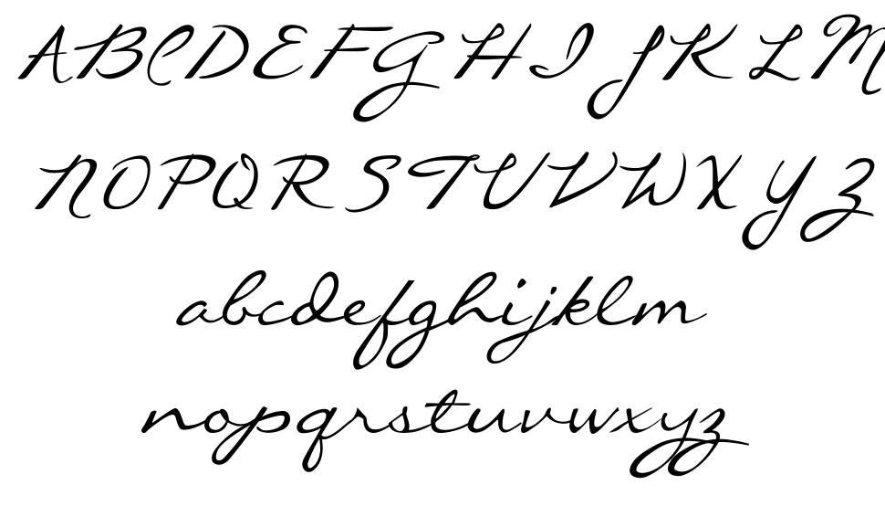 Callie Hand font