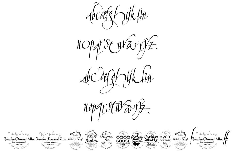 Calligraphunk fonte