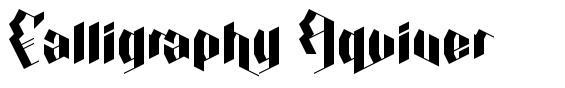 Calligraphy Aquiver font