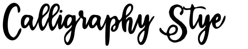 Calligraphy Stye