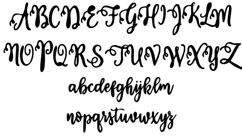 Calligraphy Stye フォント