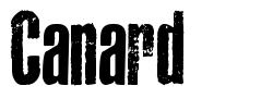 Canard font