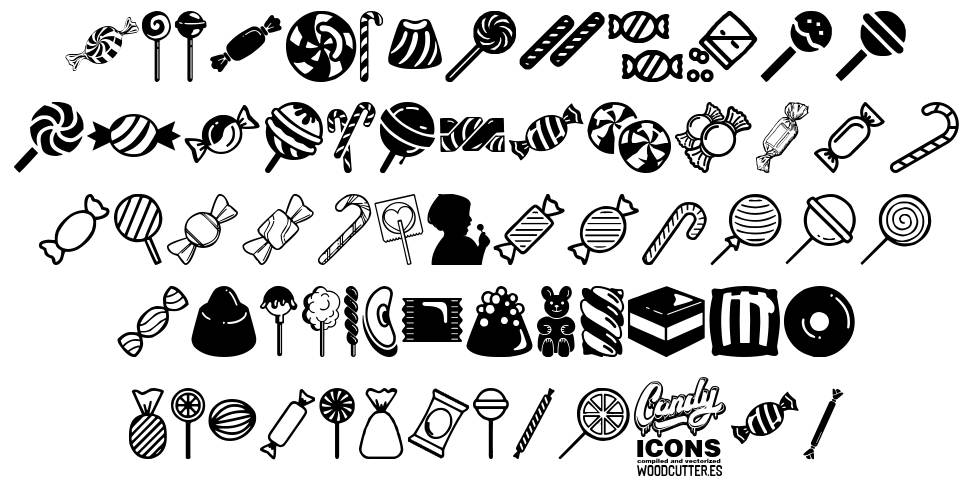Candy Icons font