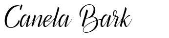 Canela Bark font