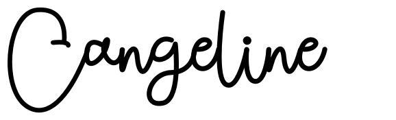 Cangeline font