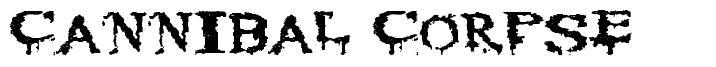 Cannibal Corpse 字形